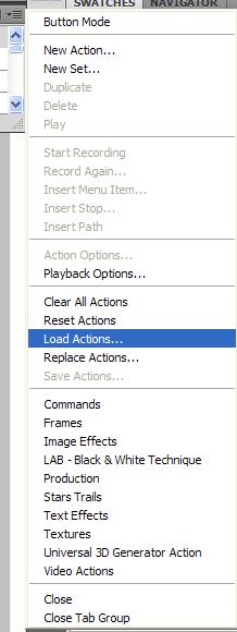 Как установить Actions в фотошоп