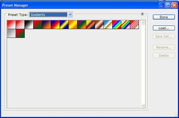 Как устанавливать в Photoshop градиенты, текстуры и формы